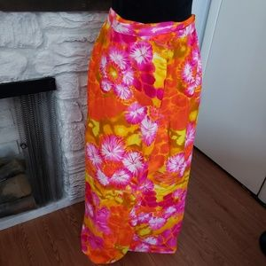 Personal Vintage wrap around floral skirt. Size M